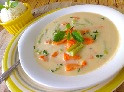 Steamed Vegetables in a Coconut milk