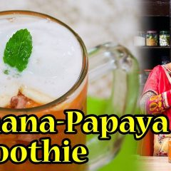 Banana Papaya Smoothie