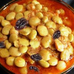 Lima beans with Golden Raisins