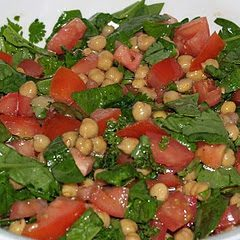 Spiced Chickpea salad with Spinach