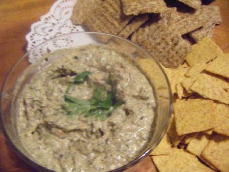 Artichoke and olive dip
