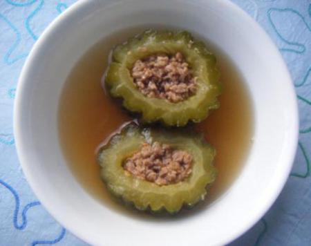 Stuffed Bittergourd soup