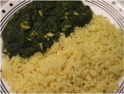 Tofu in Spinach Gravy