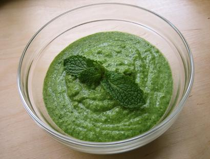 Fresh Coconut and Mint Chutney