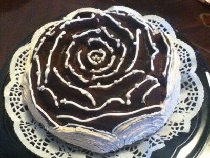 Carob Rose Cake