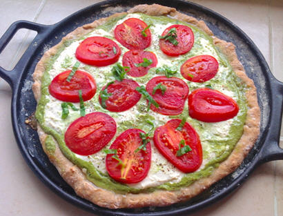 Basil Pesto Ricotta Cheese Pizza